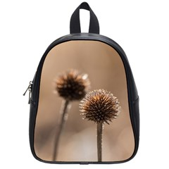 Withered Globe Thistle In Autumn Macro School Bags (small)  by wsfcow