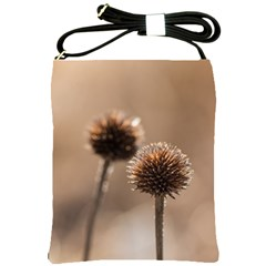 Withered Globe Thistle In Autumn Macro Shoulder Sling Bags by wsfcow
