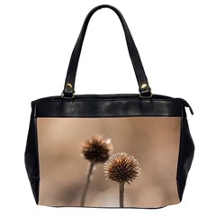 Withered Globe Thistle In Autumn Macro Office Handbags (2 Sides)  by wsfcow
