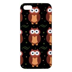 Halloween Brown Owls  Iphone 5s/ Se Premium Hardshell Case by Valentinaart