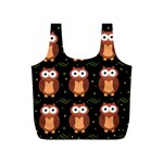 Halloween brown owls  Full Print Recycle Bags (S)