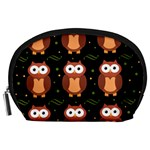Halloween brown owls  Accessory Pouches (Large)