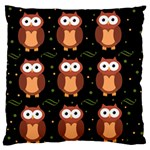 Halloween brown owls  Large Flano Cushion Case (One Side)