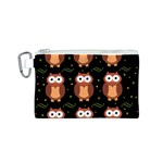 Halloween brown owls  Canvas Cosmetic Bag (S)