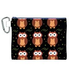 Halloween Brown Owls  Canvas Cosmetic Bag (xl) by Valentinaart