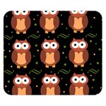 Halloween brown owls  Double Sided Flano Blanket (Small)