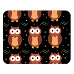 Halloween brown owls  Double Sided Flano Blanket (Large)