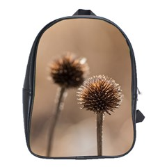 Withered Globe Thistle In Autumn Macro School Bags (xl)  by wsfcow