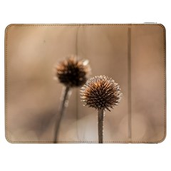 Withered Globe Thistle In Autumn Macro Samsung Galaxy Tab 7  P1000 Flip Case by wsfcow
