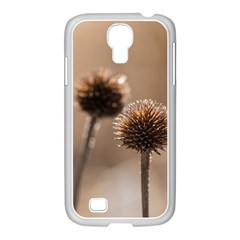 Withered Globe Thistle In Autumn Macro Samsung Galaxy S4 I9500/ I9505 Case (white) by wsfcow
