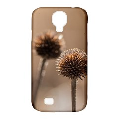 Withered Globe Thistle In Autumn Macro Samsung Galaxy S4 Classic Hardshell Case (pc+silicone) by wsfcow