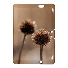 Withered Globe Thistle In Autumn Macro Kindle Fire Hdx 8 9  Hardshell Case by wsfcow