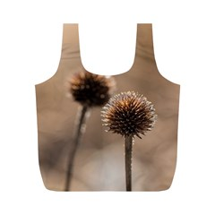 Withered Globe Thistle In Autumn Macro Full Print Recycle Bags (m)  by wsfcow