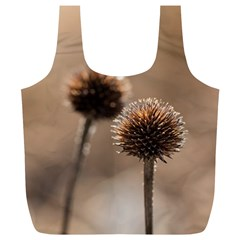 Withered Globe Thistle In Autumn Macro Full Print Recycle Bags (l)  by wsfcow