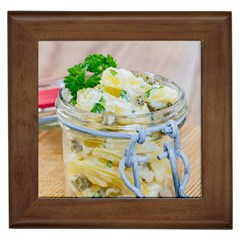 Potato Salad In A Jar On Wooden Framed Tiles by wsfcow