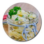 Potato salad in a jar on wooden Round Mousepads
