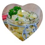 Potato salad in a jar on wooden Ornament (Heart)