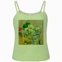 Potato Salad In A Jar On Wooden Green Spaghetti Tank by wsfcow