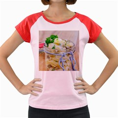 Potato Salad In A Jar On Wooden Women s Cap Sleeve T Shirt by wsfcow