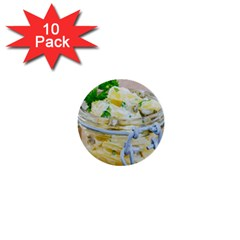 Potato Salad In A Jar On Wooden 1  Mini Buttons (10 Pack)  by wsfcow