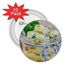 Potato Salad In A Jar On Wooden 2 25  Buttons (10 Pack)  by wsfcow