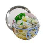 Potato salad in a jar on wooden 2.25  Handbag Mirrors
