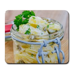 Potato Salad In A Jar On Wooden Large Mousepads by wsfcow