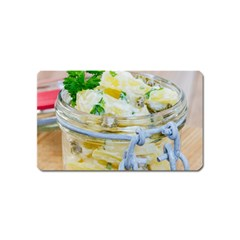 Potato Salad In A Jar On Wooden Magnet (name Card) by wsfcow