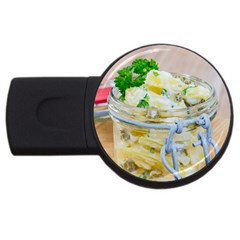 Potato Salad In A Jar On Wooden Usb Flash Drive Round (2 Gb)  by wsfcow