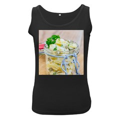 Potato Salad In A Jar On Wooden Women s Black Tank Top by wsfcow