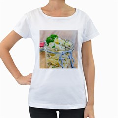 Potato Salad In A Jar On Wooden Women s Loose Fit T Shirt (white) by wsfcow