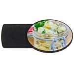 Potato salad in a jar on wooden USB Flash Drive Oval (4 GB)