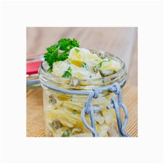Potato Salad In A Jar On Wooden Collage Prints by wsfcow