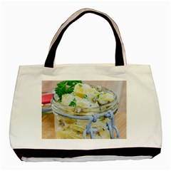 Potato Salad In A Jar On Wooden Basic Tote Bag by wsfcow