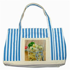 Potato Salad In A Jar On Wooden Striped Blue Tote Bag by wsfcow