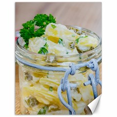 Potato Salad In A Jar On Wooden Canvas 12  X 16   by wsfcow