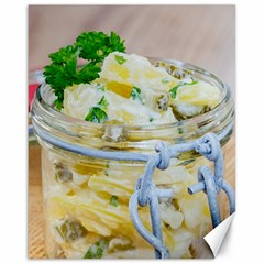 Potato Salad In A Jar On Wooden Canvas 16  X 20   by wsfcow