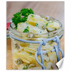 Potato Salad In A Jar On Wooden Canvas 20  X 24   by wsfcow