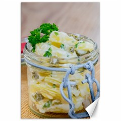 Potato Salad In A Jar On Wooden Canvas 20  X 30   by wsfcow