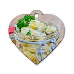 Potato Salad In A Jar On Wooden Dog Tag Heart (one Side) by wsfcow