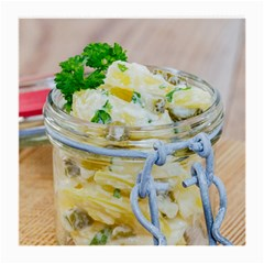 Potato Salad In A Jar On Wooden Medium Glasses Cloth by wsfcow