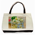 Potato salad in a jar on wooden Basic Tote Bag (Two Sides)