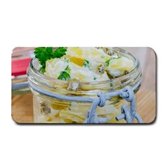 Potato Salad In A Jar On Wooden Medium Bar Mats by wsfcow