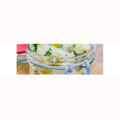 Potato Salad In A Jar On Wooden Large Bar Mats by wsfcow