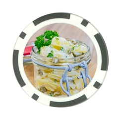 Potato Salad In A Jar On Wooden Poker Chip Card Guards by wsfcow