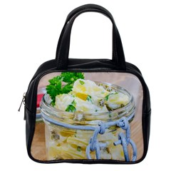 Potato Salad In A Jar On Wooden Classic Handbags (one Side) by wsfcow