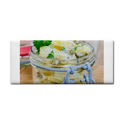 Potato Salad In A Jar On Wooden Hand Towel by wsfcow