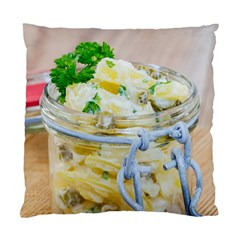 Potato Salad In A Jar On Wooden Standard Cushion Case (one Side) by wsfcow