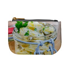 Potato Salad In A Jar On Wooden Mini Coin Purses by wsfcow