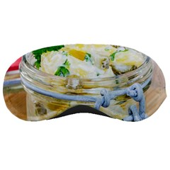 Potato Salad In A Jar On Wooden Sleeping Masks by wsfcow